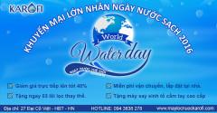 Máy lọc nước Karofi khuyến mại lớn hưởng ứng ngày nước sạch 2016