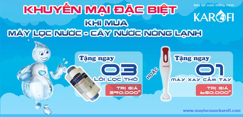 máy lọc nước karofi khuyến mại